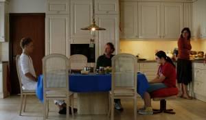 De Ontmaagding Van Eva Van End: Rafael Gareisen (Veit), Ton Kas (Evert), Vivian Dierickx (Eva) en Jacqueline Blom (Etty)
