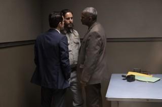Rami Malek, Jared Leto en Denzel Washington in The Little Things