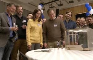 Downsizing: Kristen Wiig (Audrey Safranek) en Matt Damon (Paul Safranek)