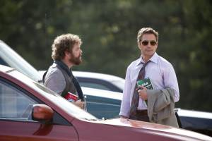 Robert Downey Jr. (Peter Highman) en Zach Galifianakis (Ethan Tremblay)