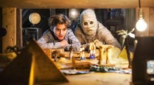 Dummie de Mummie en de tombe van Achnetoet: Julian Ras (Goos Guts) en Yahya Gaier (Dummie)