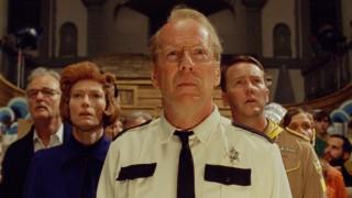 Bill Murray, Tilda Swinton, Bruce Willis en Edward Norton in Moonrise Kingdom
