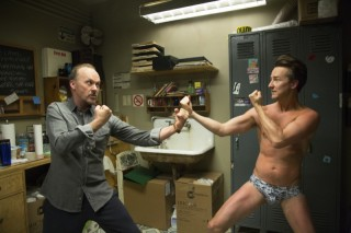 Michael Keaton en Edward Norton in Birdman
