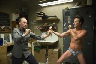 Michael Keaton en Edward Norton in Birdman