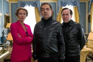 Emma Thompson, Rowan Atkinson en Ben Miller (II) in Johnny English Strikes Again