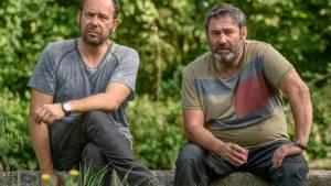 En amont du fleuve: Sergi López (Joé) en Olivier Gourmet (Homer)