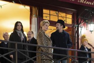 Juliette Binoche, Catherine Deneuve en Ethan Hawke in La Vérité (The Truth)