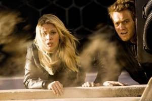 Scarlett Johansson en Ewan McGregor in The Island