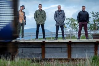 Ewen Bremner, Ewan McGregor, Jonny Miller en Robert Carlyle in T2: Trainspotting