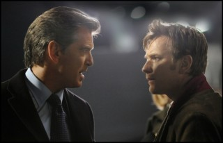 Pierce Brosnan en Ewan McGregor in The Ghost Writer