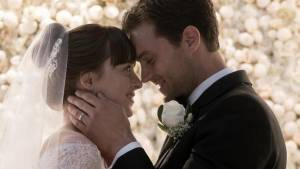 Dakota Johnson (Anastasia Steele) en Jamie Dornan (Christian Grey)