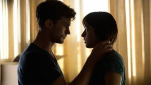 Fifty Shades of Grey: Jamie Dornan (Christian Grey) en Dakota Johnson (Anastasia Steele)