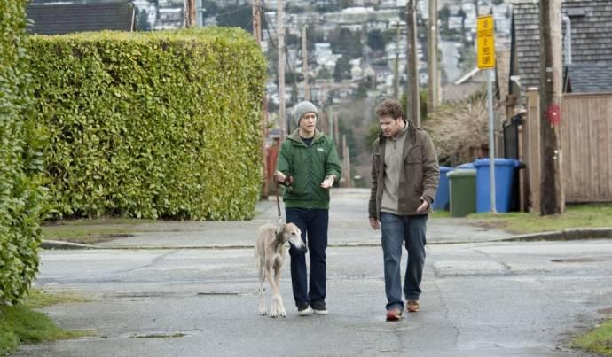 Joseph Gordon-Levitt (Adam) en Seth Rogen (Kyle)