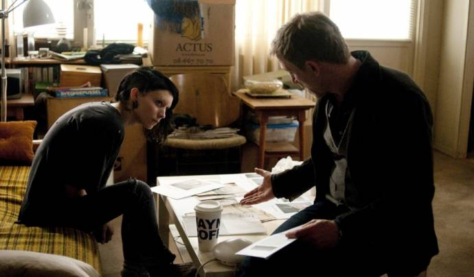 Rooney Mara (Lisbeth Salander) en Daniel Craig (Mikael Blomkvist)