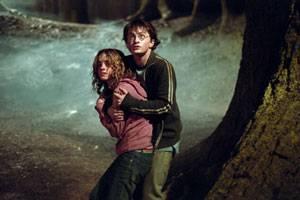 Daniel Radcliffe (Harry Potter) en Emma Watson (Hermione Granger)