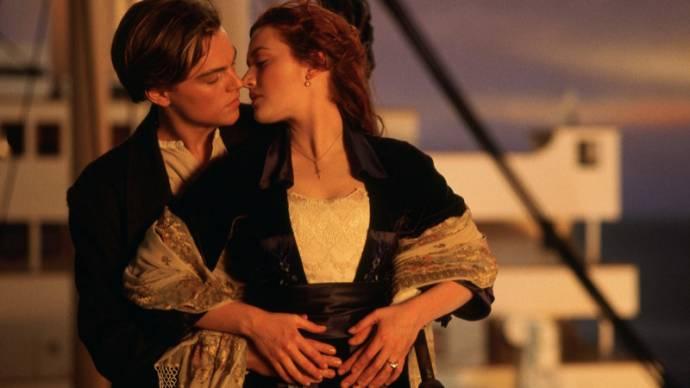 Leonardo DiCaprio (Jack Dawson) en Kate Winslet (Rose DeWitt Bukater)
