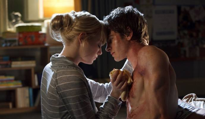 Emma Stone (Gwen Stacy) en Andrew Garfield (Spider-Man / Peter Parker)