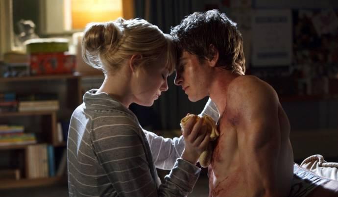 Emma Stone (Gwen Stacy) en Andrew Garfield (Spider-Man / Peter Parker)