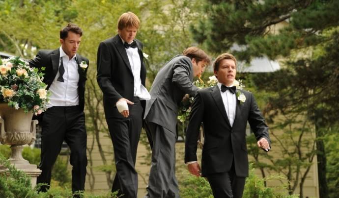 Xavier Samuel (David), Kris Marshall (Tom), Tim Draxl (Luke) en Kevin Bishop (I) (Graham)