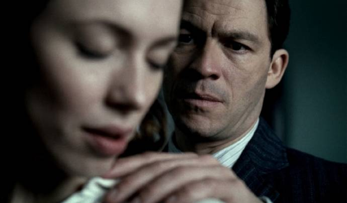 Rebecca Hall (Florence Cathcart) en Dominic West (Robert Mallory)