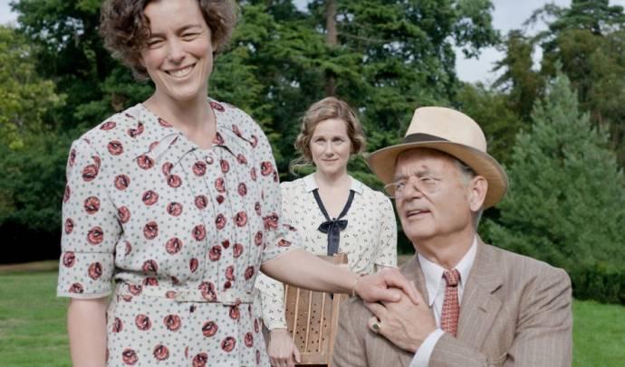 Olivia Williams (Eleanor Roosevelt), Laura Linney (Margaret Suckley) en Bill Murray (Franklin D. Roosevelt)