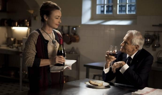 Catherine Frot (Hortense) en Jean d'Ormesson (Le Président)