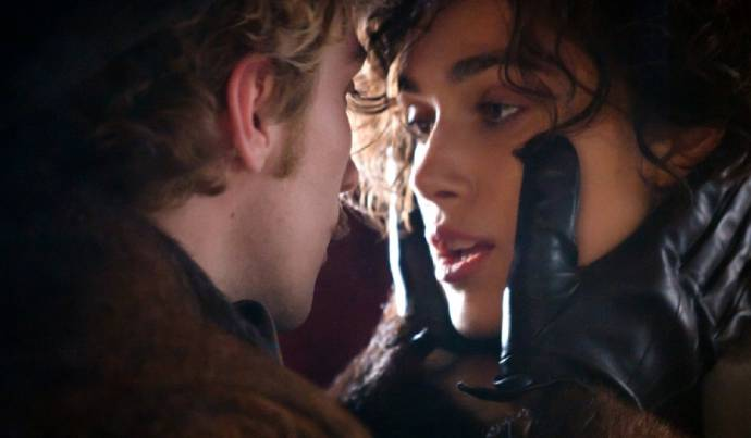 Aaron Johnson (Vronsky) en Keira Knightley (Anna Karenina)