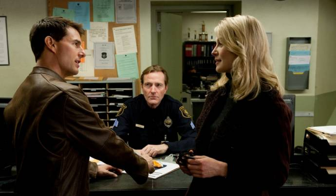 Tom Cruise (Jack Reacher) en Rosamund Pike (Helen Rodin) in Jack Reacher