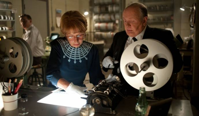 Helen Mirren (Alma Reville) en Anthony Hopkins (Alfred Hitchcock)