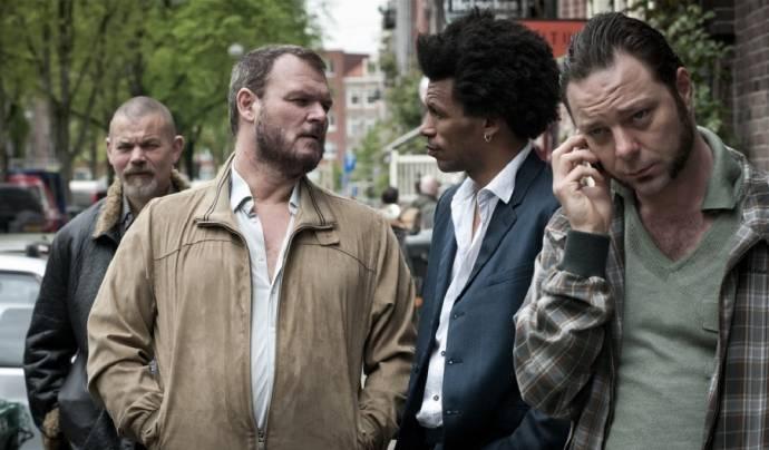 Yorick van Wageningen (Ronnie), Goua Robert Grovogui (Eduardo) en Juda Goslinga (Janus)
