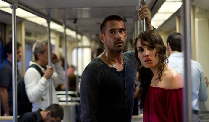 Colin Farrell (Victor) en Noomi Rapace (Beatrice)