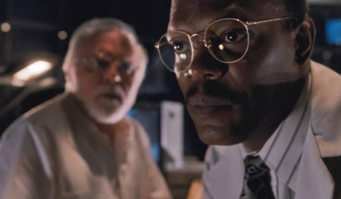 Richard Attenborough (John Hammond) en Samuel L. Jackson (Ray Arnold)