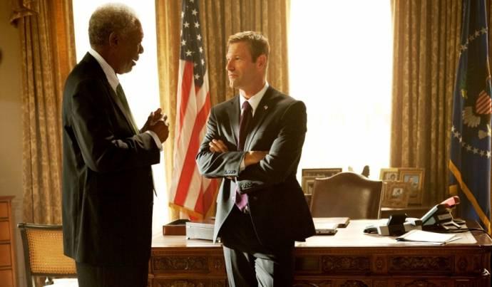 Morgan Freeman en Aaron Eckhart