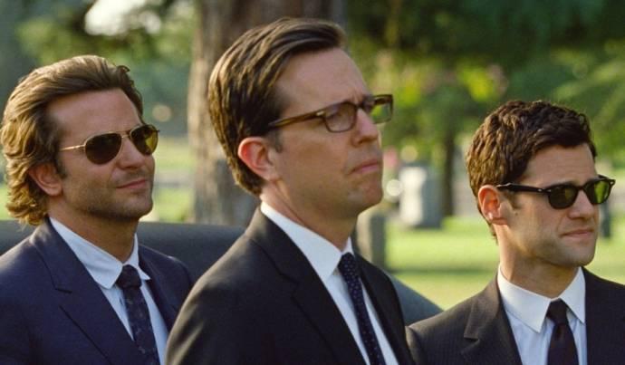 Bradley Cooper (Phil), Ed Helms (Stu) en Justin Bartha (Doug)