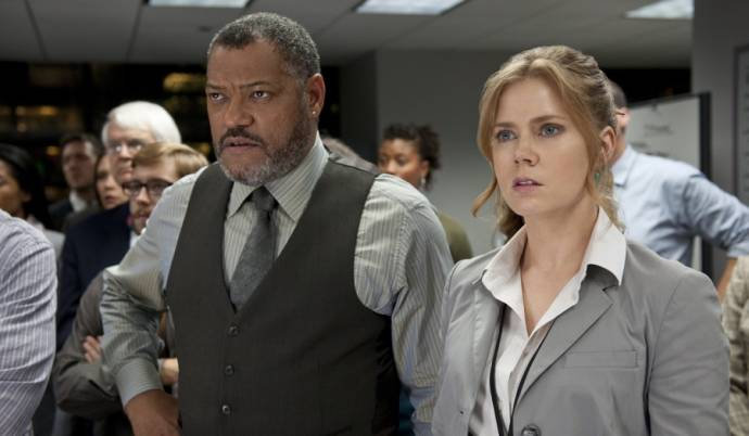 Laurence Fishburne (Perry White) en Amy Adams (Lois Lane)