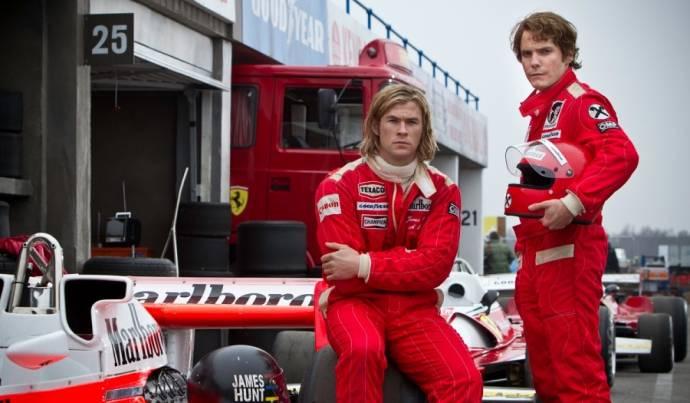 Chris Hemsworth (James Hunt) en Daniel Brühl (Niki Lauda)