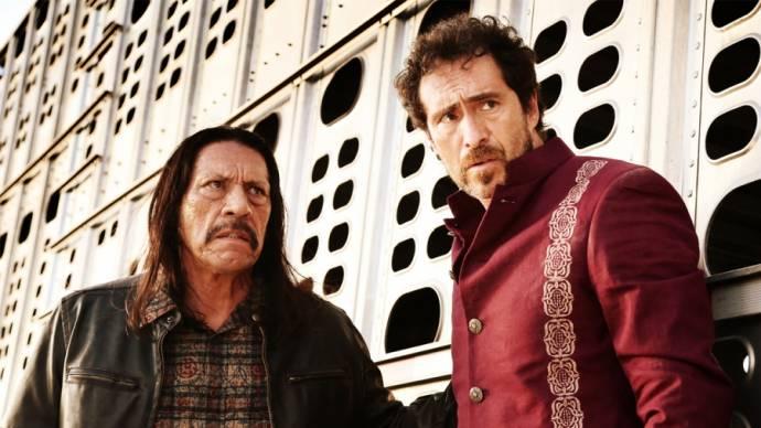 Danny Trejo (Machete Cortez) en Demián Bichir (Mendez the Madman)