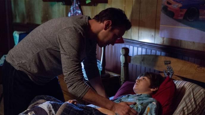 Patrick Wilson (Josh Lambert) en Ty Simpkins (Dalton Lambert)