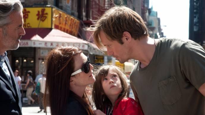 Julianne Moore (Susanna), Onata Aprile (Maisie) en Alexander Skarsgård (Lincoln)