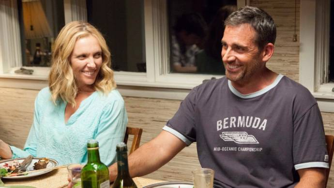 Toni Collette (Pam) en Steve Carell (Trent)