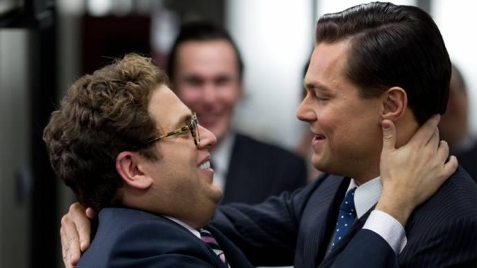 Jonah Hill (Donnie Azoff) en Leonardo DiCaprio (Jordan Belfort)