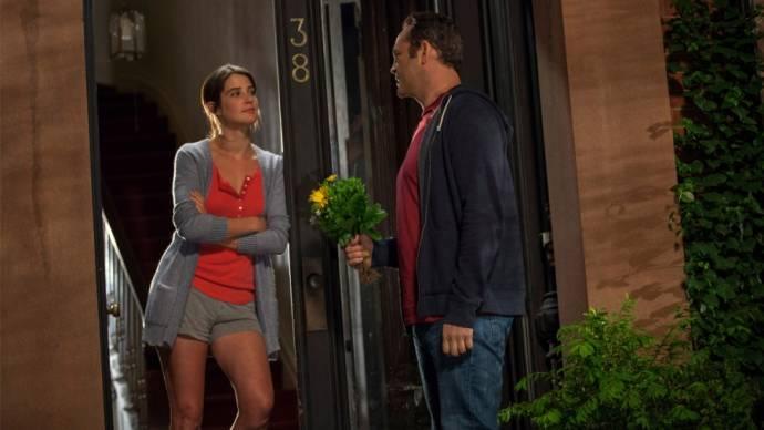 Cobie Smulders (Emma) en Vince Vaughn (David Wozniak) in Ladies Night: Delivery Man