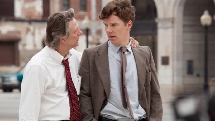 Chris Cooper (Charles Aiken) en Benedict Cumberbatch ('Little' Charles Aiken)