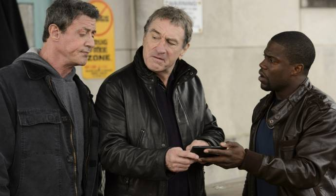 Sylvester Stallone (Henry 'Razor' Sharp), Robert De Niro (Billy 'The Kid' McDonnen) en Kevin Hart (Dante Slate, Jr.)