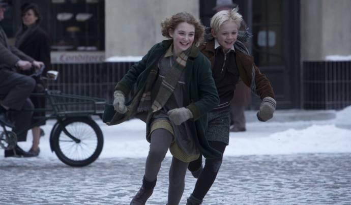 Nico Liersch (Rudy) en Sophie Nélisse (Liesel)