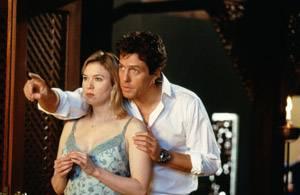 Hugh Grant (Daniel Cleaver) en Renée Zellweger (Bridget Jones)