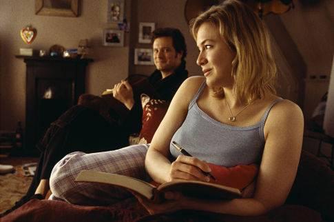 Colin Firth (Mark Darcy) en Renée Zellweger (Bridget Jones)