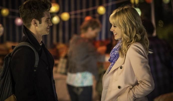 Andrew Garfield (Peter Parker / Spider-Man) en Emma Stone (Gwen Stacy)