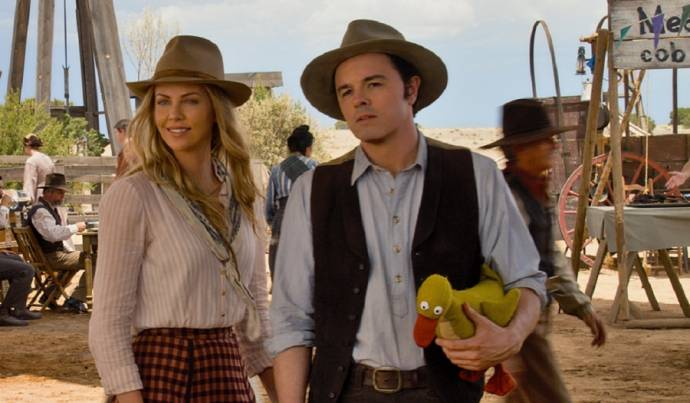 Charlize Theron (Anna) en Seth MacFarlane (Albert)