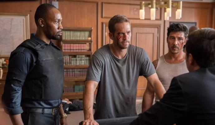 RZA (Tremaine), Paul Walker (Damien) en David Belle (Lino)